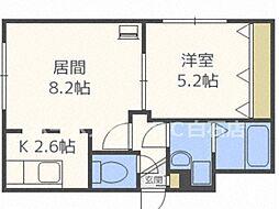 ジュネパレス札幌 4階1LDKの間取り
