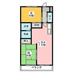 ドミールアオキ[4階]の間取り
