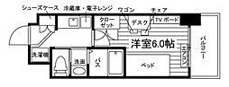 (仮称)UniLife豊津駅前学生会館[食事付き] 3階1Kの間取り