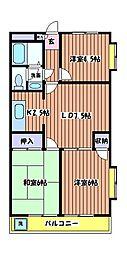 サンコーハイム[2階]の間取り