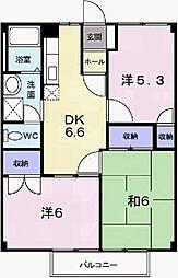 兵庫県姫路市御立中7丁目の賃貸アパートの間取り