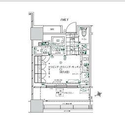 JR山手線 浜松町駅 徒歩11分の賃貸マンション 5階ワンルームの間取り