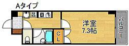 アルファ帝塚山[4階]の間取り