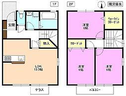 [テラスハウス] 長野県松本市筑摩1丁目 の賃貸【長野県/松本市】の間取り
