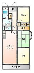 メゾンファミイユ[2階]の間取り