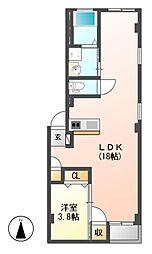 仮)グランレーヴ東別院WEST[4階]の間取り
