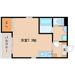 兵庫県尼崎市東園田町4丁目の賃貸アパートの間取り