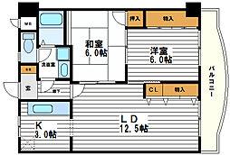アンバーヒル[3階]の間取り