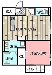 (仮)D-room砂津[304号室]の間取り