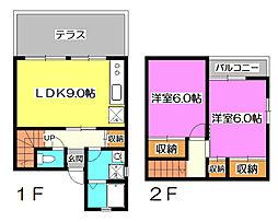 [テラスハウス] 埼玉県所沢市北野2丁目 の賃貸【/】の間取り