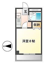 リエス千代田[4階]の間取り