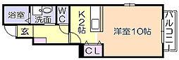 ネクシア安居野B[101号室]の間取り