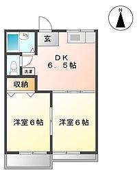 コート金福寺[2階]の間取り
