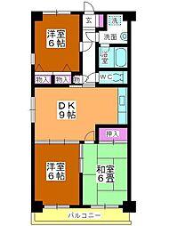 ソレイユ平野[305号室]の間取り