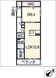 仮)JA賃貸豊田市緑ヶ丘 3階1SLDKの間取り