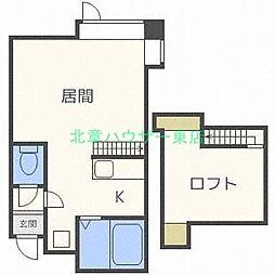 MHパレス N26[1階]の間取り