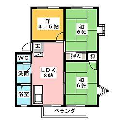 サンライフ伴野A棟[1階]の間取り