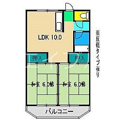 コーポ田中1号館[1階]の間取り