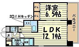 エスキュート平野町[10階]の間取り