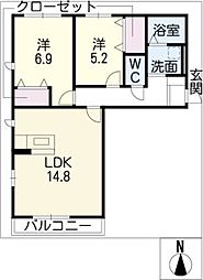 カーサSK[2階]の間取り
