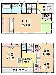 JR内房線 姉ヶ崎駅 バス17分 泉台中央下車 徒歩2分 2LDKの間取り