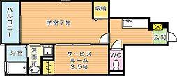 エバーステージIII[1階]の間取り