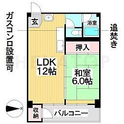 愛知県名古屋市瑞穂区新開町の賃貸マンションの間取り