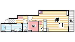エスポワールドミール[1階]の間取り