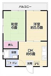第2魚佳ビル[2階左号室]の間取り