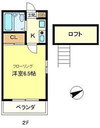 シャルム垂水[2階]の間取り