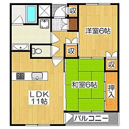 ハウスガーデンヒル[2階]の間取り