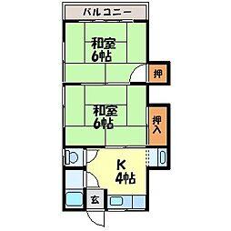 プライムアパート滑石(3)[102号室]の間取り