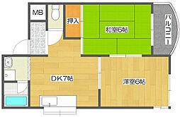 メゾンラ・フォーレ[3階]の間取り