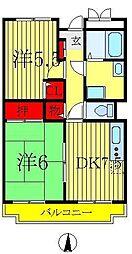 ドミシル定菊[4階]の間取り