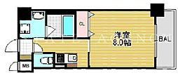 ルビダクォ南堀江[6階]の間取り