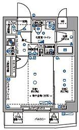 東京都大田区東六郷1丁目の賃貸マンションの間取り