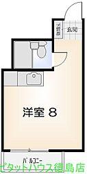 シティハイム栄町 パート5[2階]の間取り