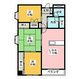 第2二枚橋マンション[1階]の間取り