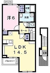エルバヴェント[2階]の間取り