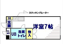 神奈川県相模原市南区文京2丁目の賃貸マンションの間取り
