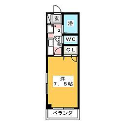 ランドワンA[1階]の間取り