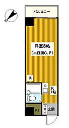 神奈川県横浜市西区平沼1丁目の賃貸マンションの間取り