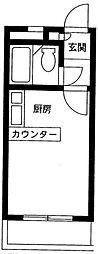 神奈川県横浜市旭区万騎が原の賃貸アパートの間取り