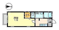 兵庫県神戸市垂水区東舞子町の賃貸アパートの間取り