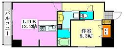 プライムコート千成[305号室]の間取り