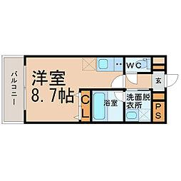 愛知県名古屋市西区新道2丁目の賃貸マンションの間取り