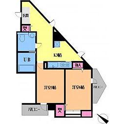 ルーラル20番館(旧ウィンベルデュエット湯島)[504号室号室]の間取り