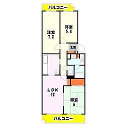 テラス竹ノ塚イースト[8階]の間取り