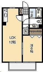 モナリエ中西[2階]の間取り