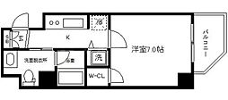 ファーストステージ京町堀レジデンス[10階]の間取り